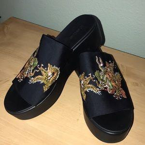 NEW Bebe Wedge Sandals